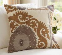 Metallic Suzani Pillow Cover   Pottery Barn