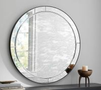 Walker Antiqued Round Glass Mirror | Pottery Barn