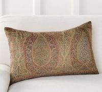 Charlene Paisley Lumbar Pillow Cover   Pottery Barn