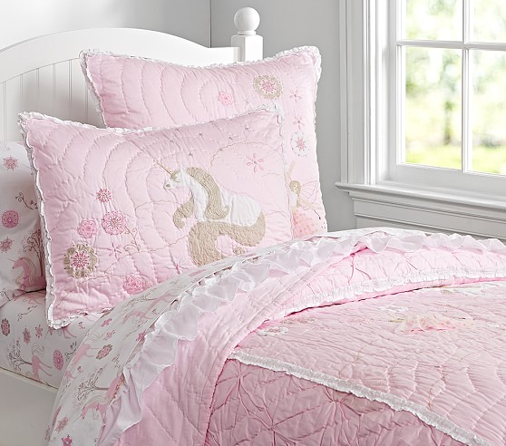 Unicorn Quilted Bedding Pottery Barn Kids