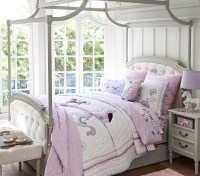 Blythe Tufted Canopy Bed | Pottery Barn Kids