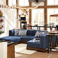 Cushy Lounge Super Sectional Set + Base   PBteen