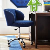 Washed Denim Wingback Desk Chair | PBteen