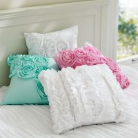 Ruffle & Rose Pillow Covers | PBteen