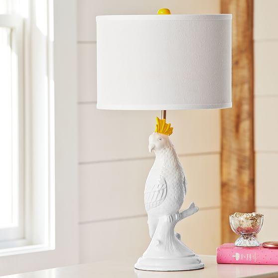 Parakeet Ceramic Table Lamp