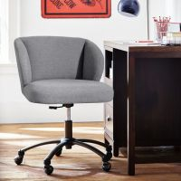 Highlands Gray Wingback Desk Chair | PBteen