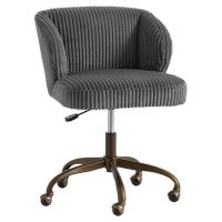 Charcoal Chamois Wingback Desk Chair | PBteen