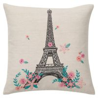 Tres Chic Eiffel Tower Pillow Cover   PBteen