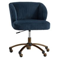 Midnight Chamois Wingback Desk Chair | PBteen