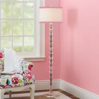 De-Lite Floor Lamp + Ribbon Trim Shade | PBteen