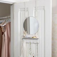 Over The Door Mirror With Storage   PBteen