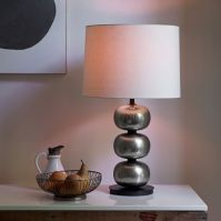 Abacus Hammered Metal Table Lamp - Brushed Nickel | west elm