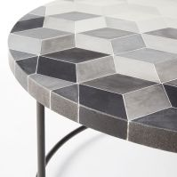 Mosaic Tiled Coffee Table - Isometric Concrete Top | west elm
