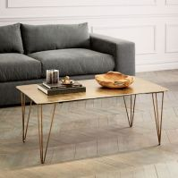 Brass Hairpin Coffee Table | west elm