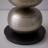 Abacus Hammered Metal Table Lamp - Brushed Nickel   west elm