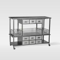 Industrial Rolling Bar Cart | west elm