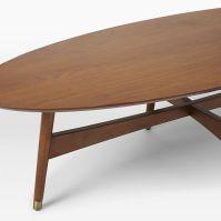 Reeve Mid-Century Oval Coffee Table - Pecan | west elm