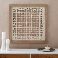 Framed Handmade Paper Wall Art - Overlapping Lines | west elm