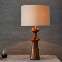 Turned Wood Table Lamp - Tall | west elm