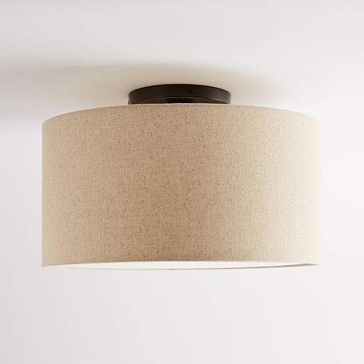 Fabric Shade Flushmount
