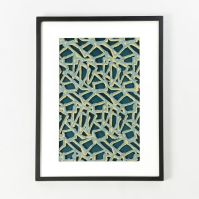 Framed Handmade Paper Wall Art - Abstract Lines | west elm