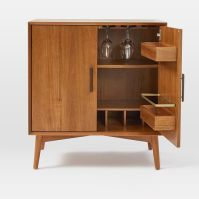Mid-Century Bar Cabinet - Small   west elm