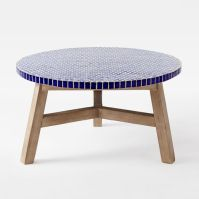 Mosaic Tiled Coffee Table - Blue Penny Top | west elm