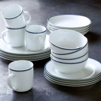 Williams-Sonoma Open Kitchen Blue Bistro Dinnerware ...