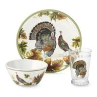 Kid's Thanksgiving Melamine 3-Piece Dinnerware Set ...