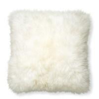 Sheepskin Pillow Cover, Ivory | Williams Sonoma