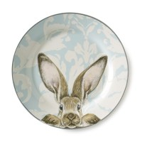 Damask Bunny Dinner Plates, Set of 4 | Williams Sonoma