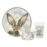 Damask Bunny Melamine Kids Dinnerware Set | Williams Sonoma