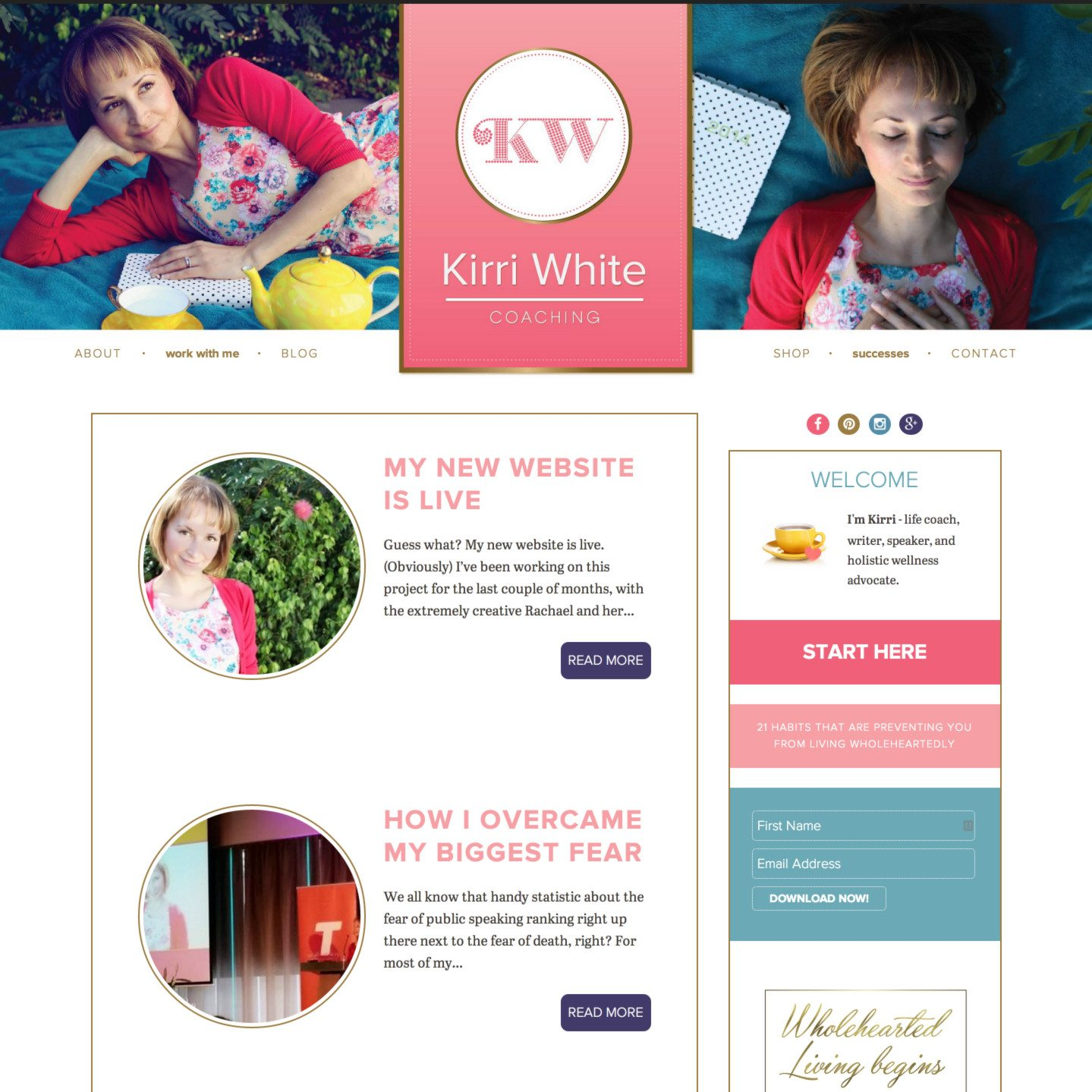 Kirri White Coaching WordPress Web Design by RKA ink