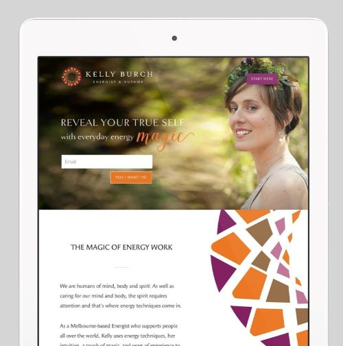 Kelly Burch Custom WordPress Web Design by RKA ink