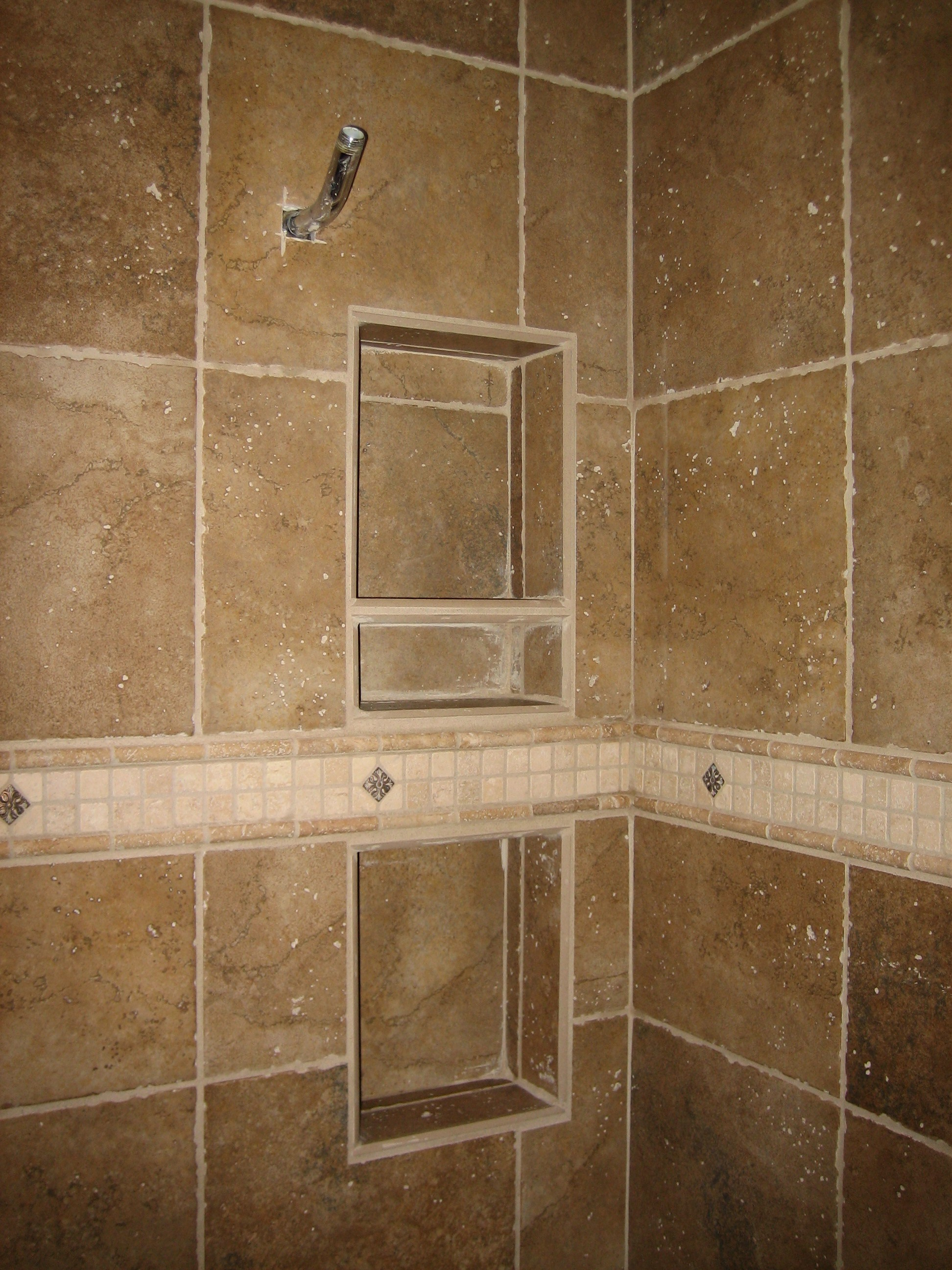 Einbaudusche Do It Yourself Recessed Tile Shelves For Showers Bathroom