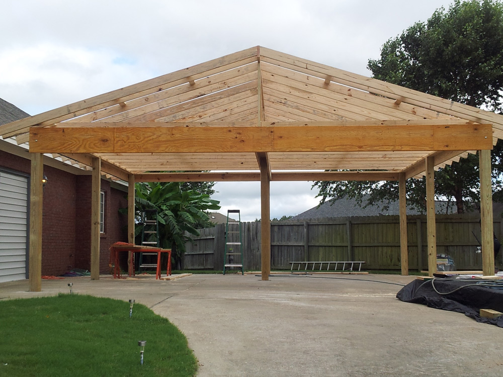 Dachkonstruktion Carport Carport Roofs & Double Carport Flat Roof Timber