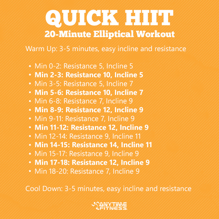 Quick HIIT - 20 Min Elliptical Workout - Anytime Fitness GET IT - how to develop a sales training plan