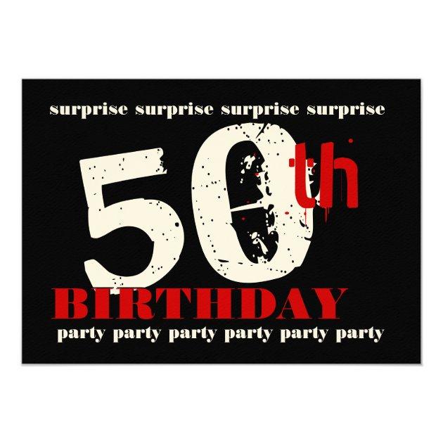 Amazing 50th surprise birthday party invitation template zazzleca 50th surprise birthday party invitation template zazzleca filmwisefo