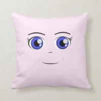 Anime Girl Throw Pillow   Zazzle