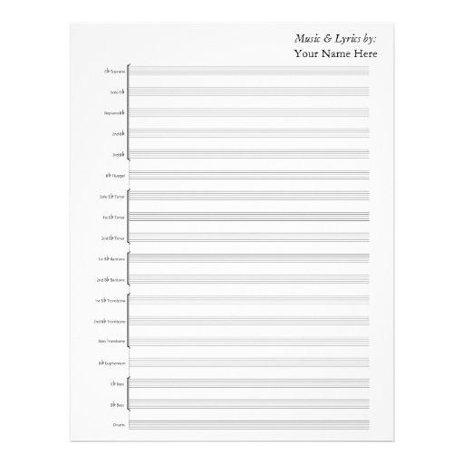 Blank Sheet Music Piano Staves Letterhead \u2013 Music