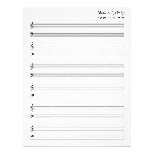 blank piano sheet music - Brucebrianwilliams - blank sheet of paper with lines
