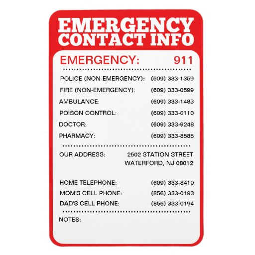emergency phone list - Towerssconstruction