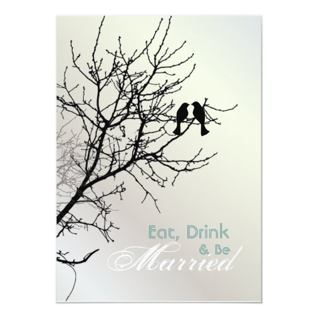 Love Birds Tree Wedding Rehearsal Dinner Invitation