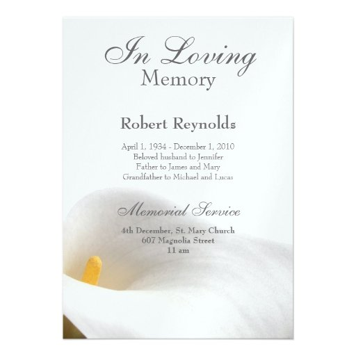 Doc623546 Funeral Announcements Template Memorial Service – Funeral Announcements Template