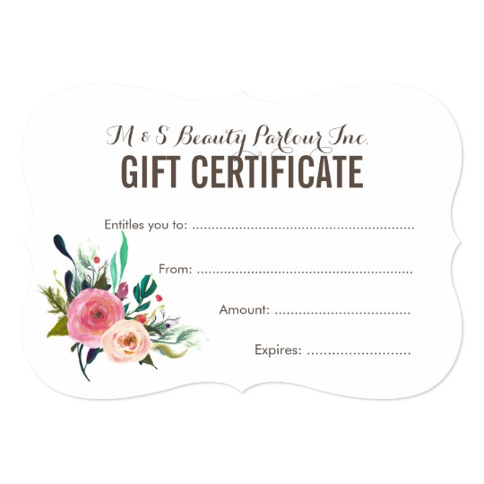 beauty gift voucher template - Josemulinohouse