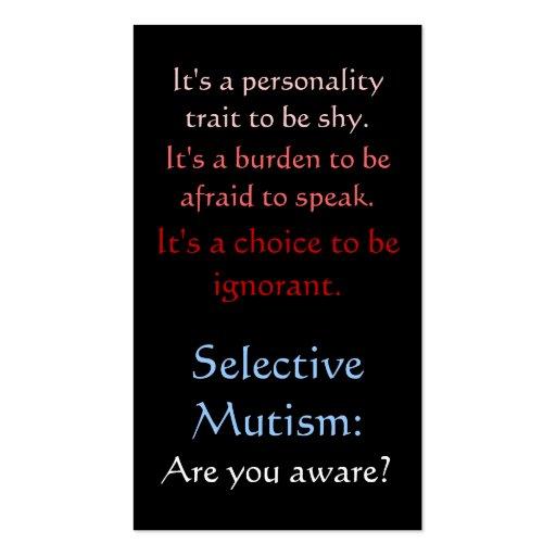 selective_mutism_awareness_business_card_template - line card template