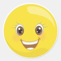 Glckliche Smiley Aufkleber | Zazzle.ch
