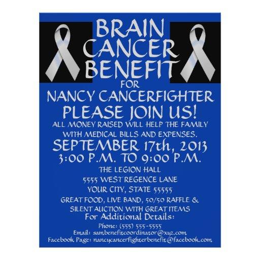 cancer benefit fundraiser flyer template - cancer fundraiser flyer template