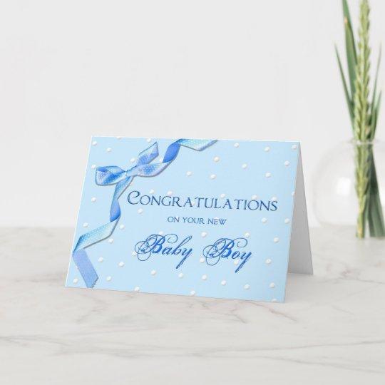 Congratulations - Baby Boy Card Zazzleuk