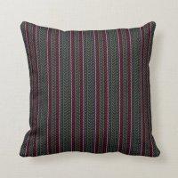 Decorative stripe throw pillow - grey/red | Zazzle.co.uk